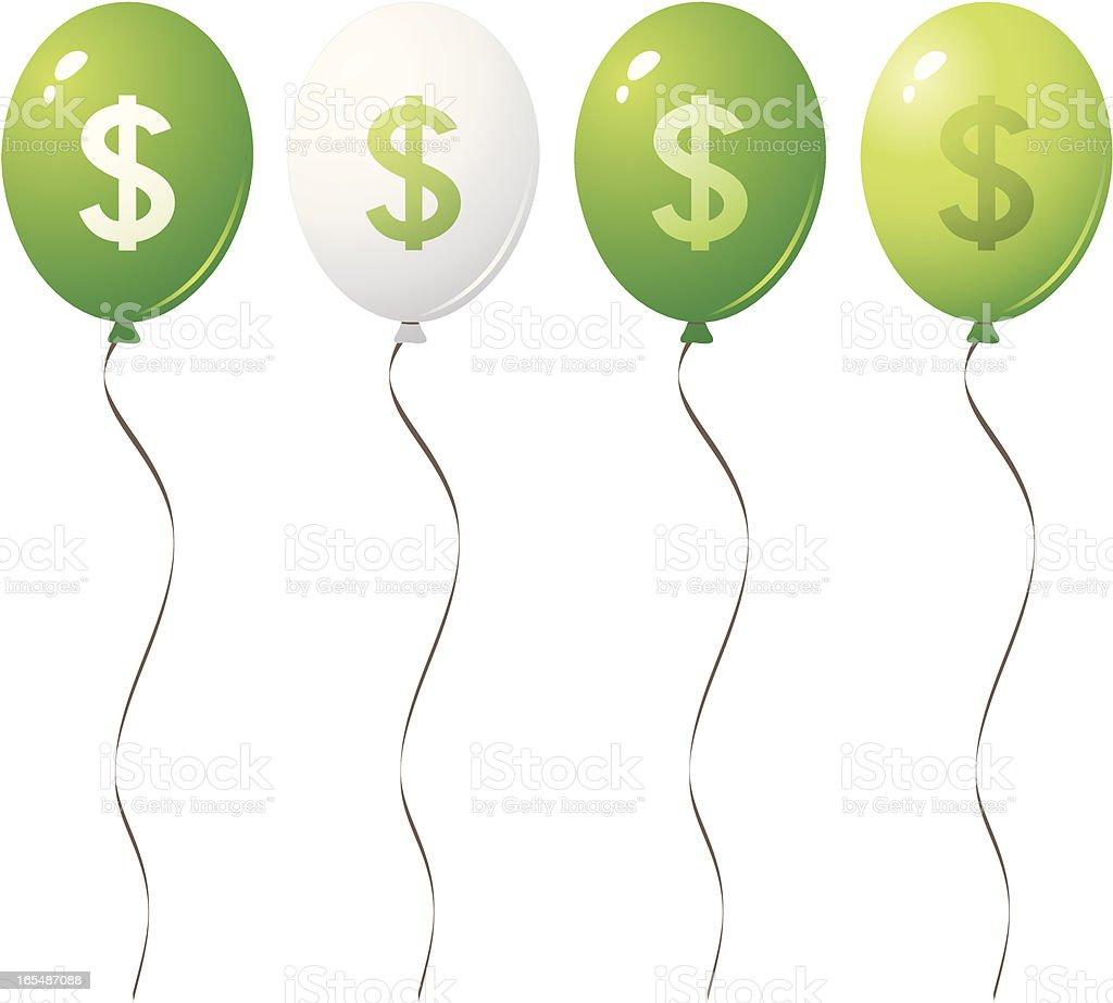 Dollar balloons royalty-free stock vector art