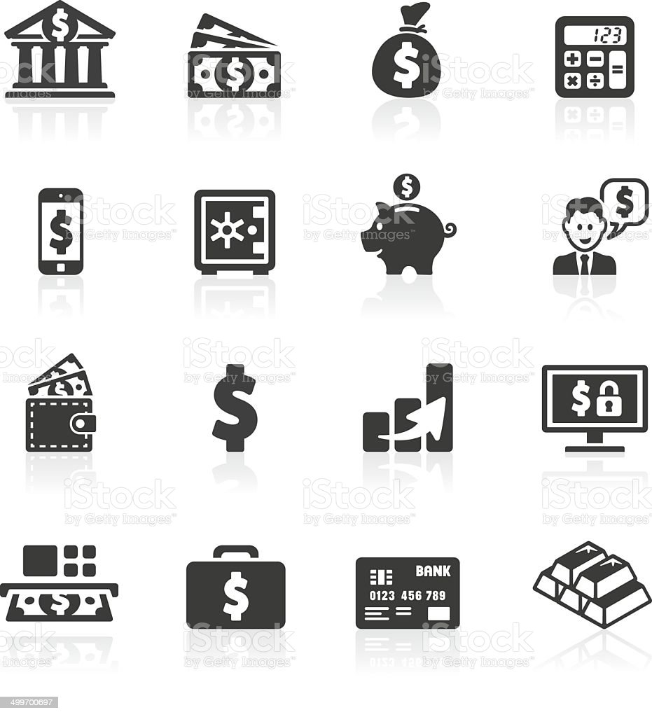 Dollar Banking Icons vector art illustration