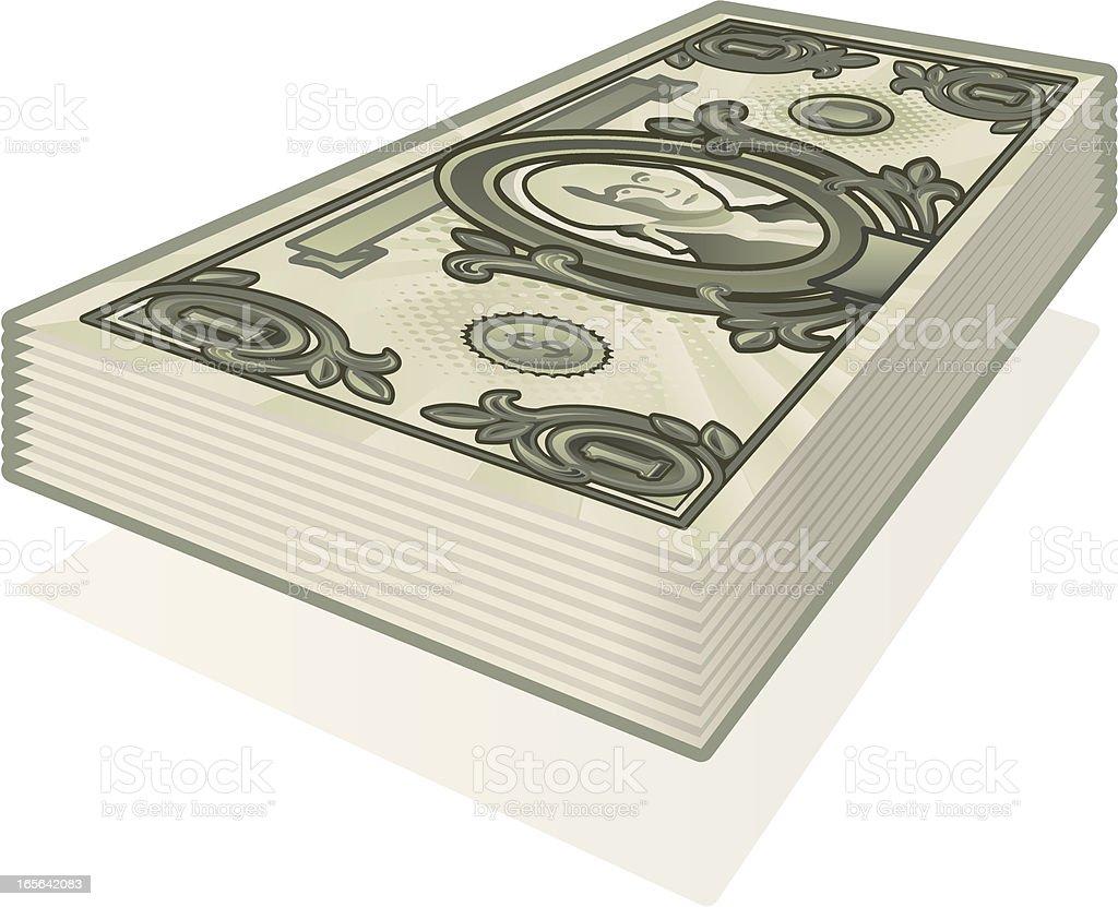 dollar bill stack royalty-free stock vector art
