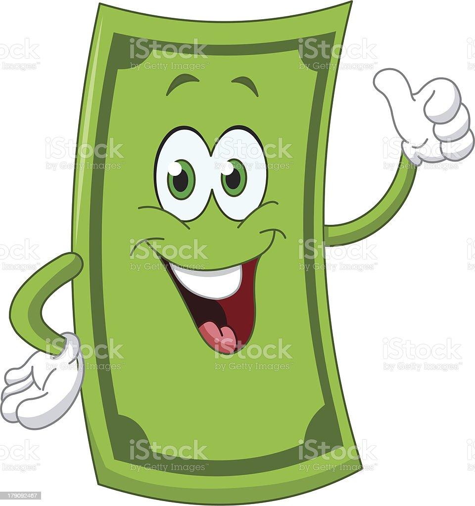 Dollar cartoon royalty-free stock vector art