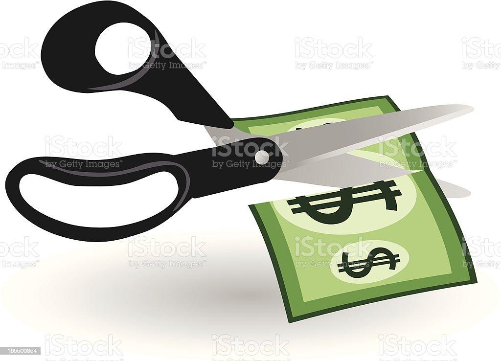 Dollar devaluation. royalty-free stock vector art