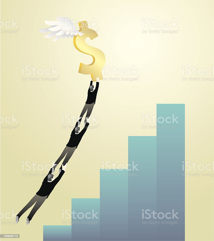 Dollar Flight royalty-free stock vector art