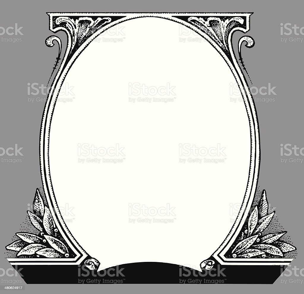 Dollar Frame vector art illustration