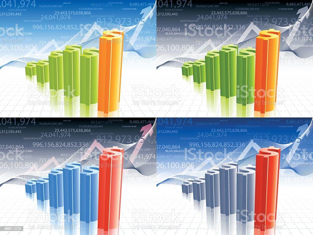 dollar graph royalty-free stock vector art