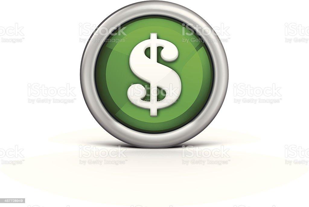 Dollar Icon vector art illustration