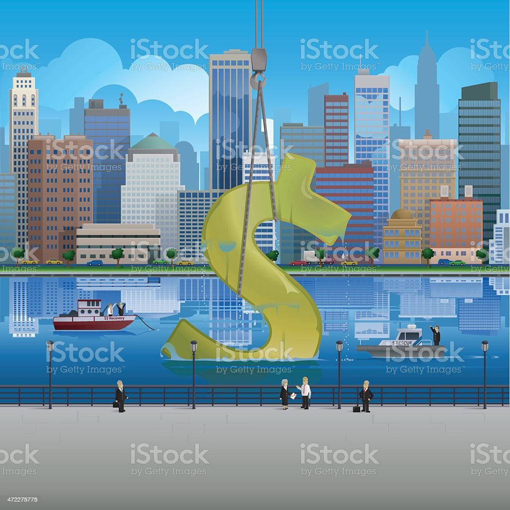 Dollar Recovery royalty-free stock vector art