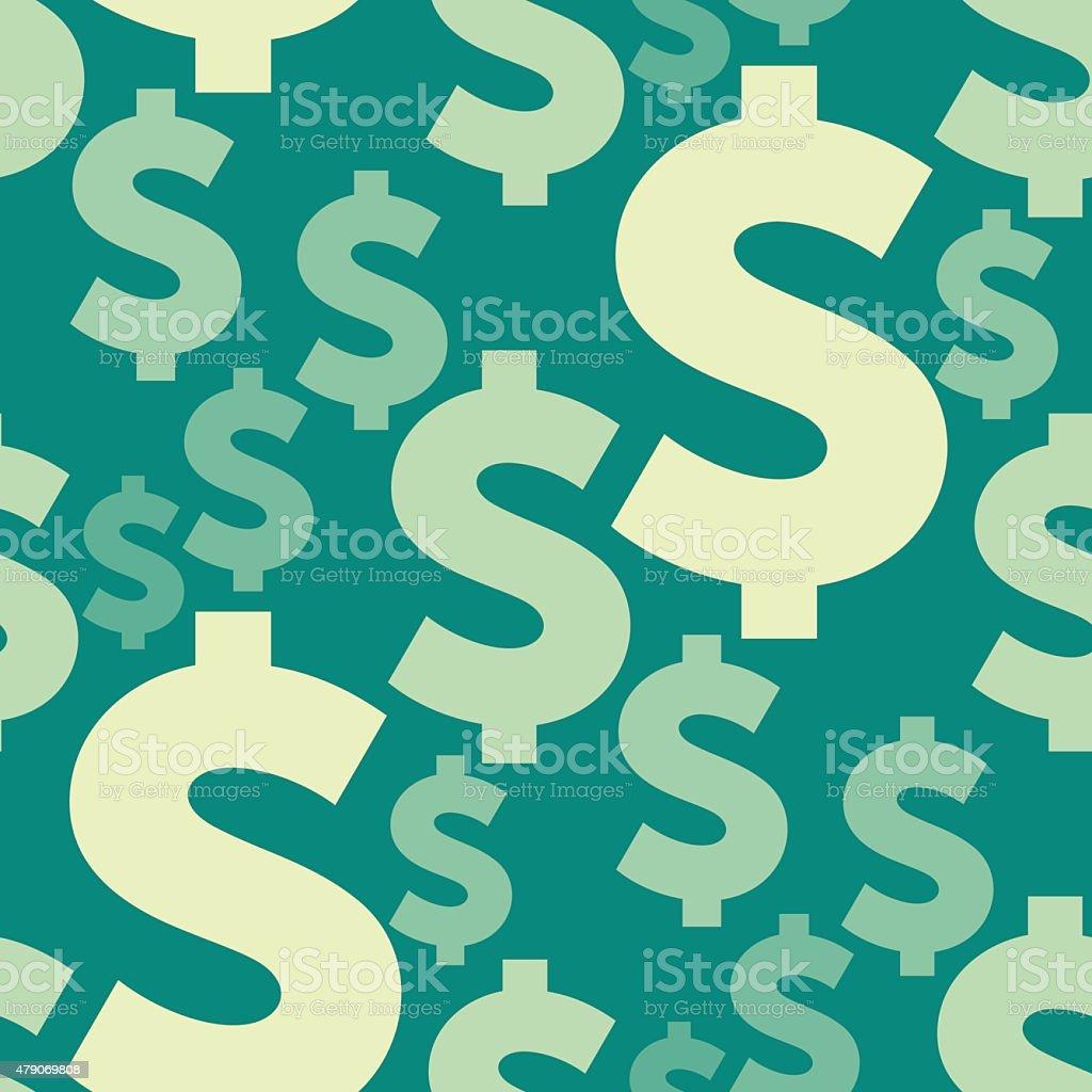 Dollar Seamless Composition vector art illustration