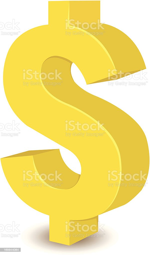 dollar sign royalty-free stock vector art