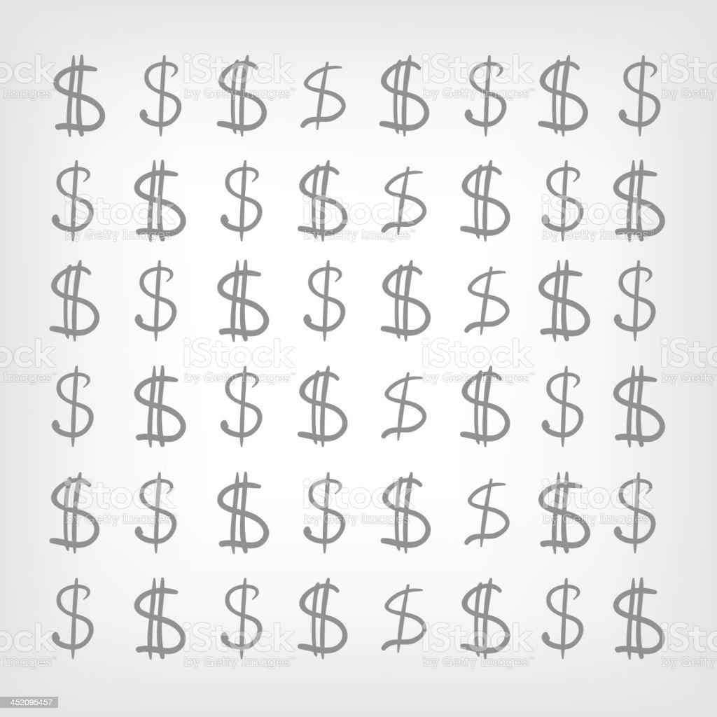 Dollar Sign royalty-free stock vector art