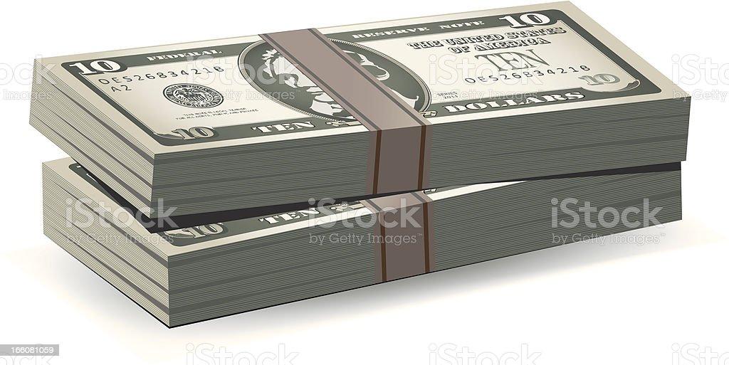 Dollar Stacks royalty-free stock vector art