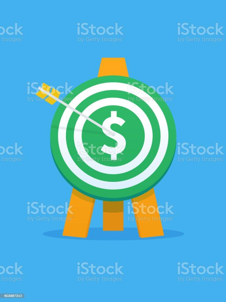Dollar Target vector art illustration