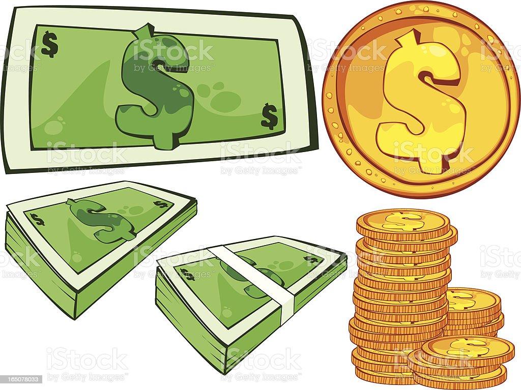 dollar royalty-free stock vector art