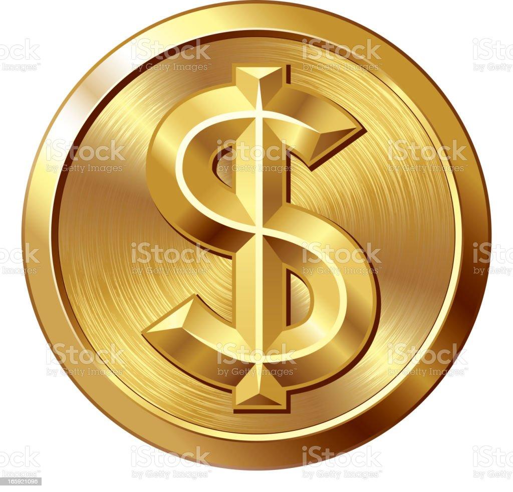 Dollar vector art illustration