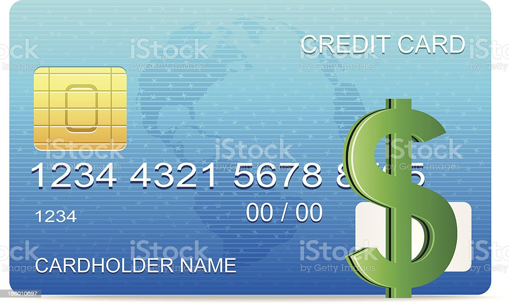 Dollar with Creditcard royalty-free stock vector art
