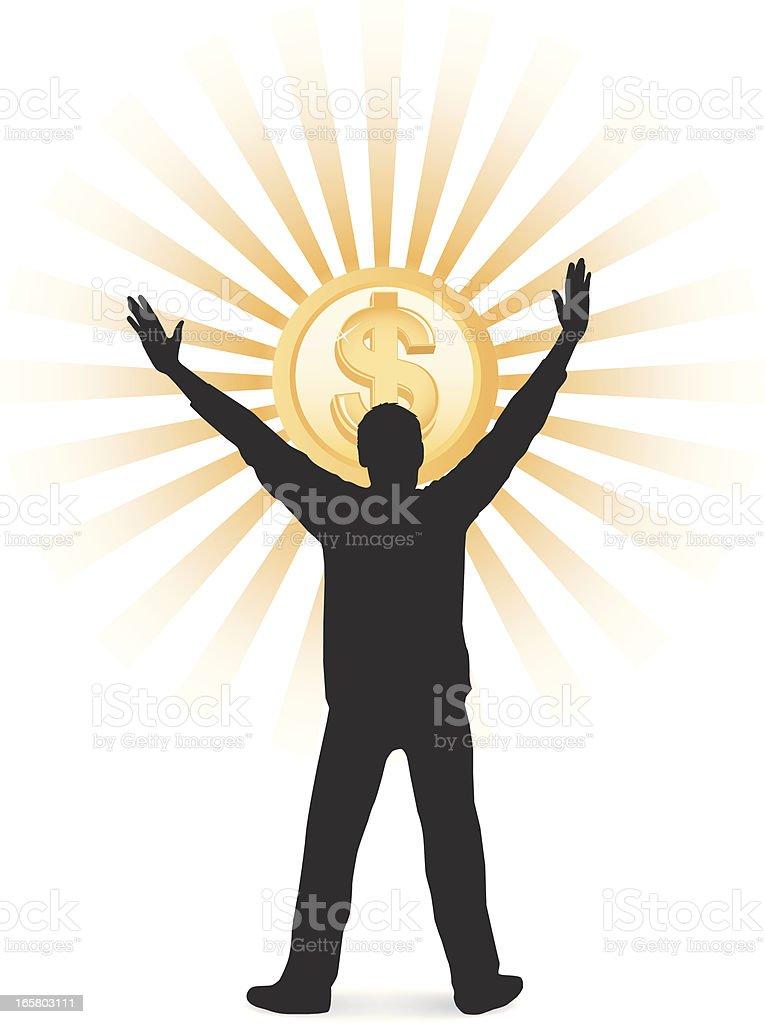 Dollar Worship royalty-free stock vector art
