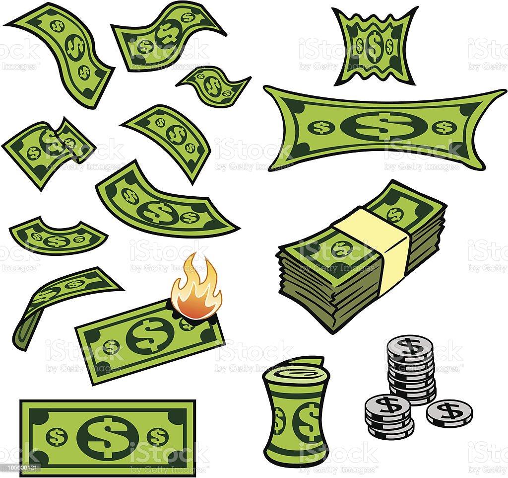 Dollars Artwork vector art illustration