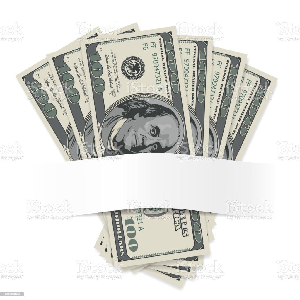 Dollars royalty-free stock vector art
