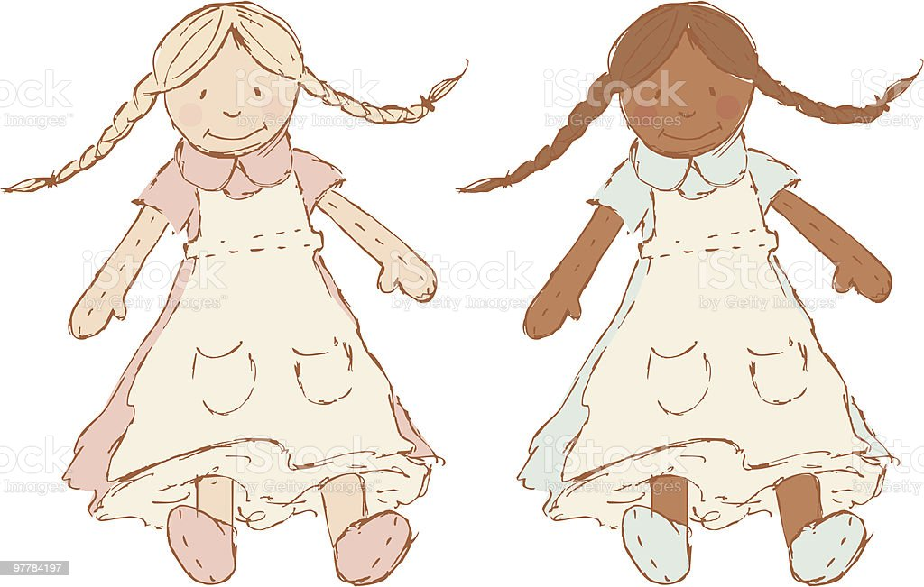 Dolls royalty-free stock vector art