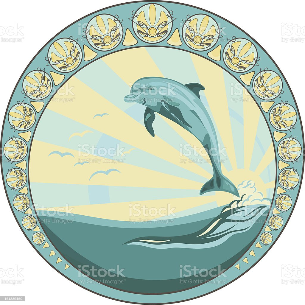 dolphin design royalty-free stock vector art