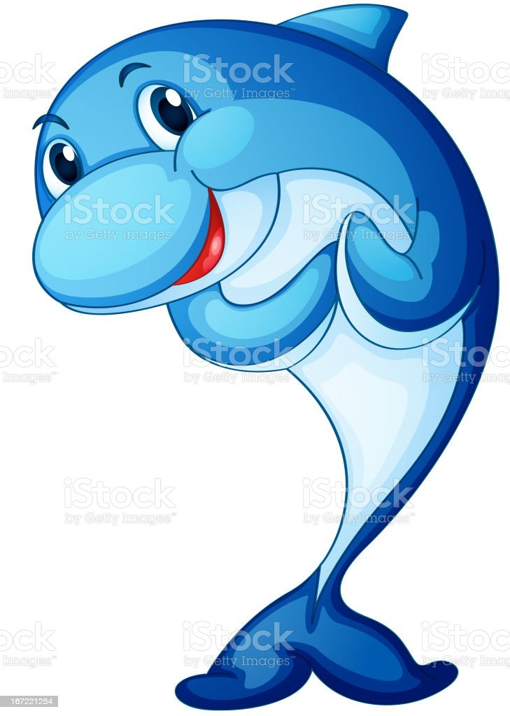 Dolphin on white royalty-free stock vector art