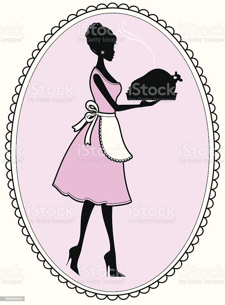 Domestic Goddess royalty-free stock vector art