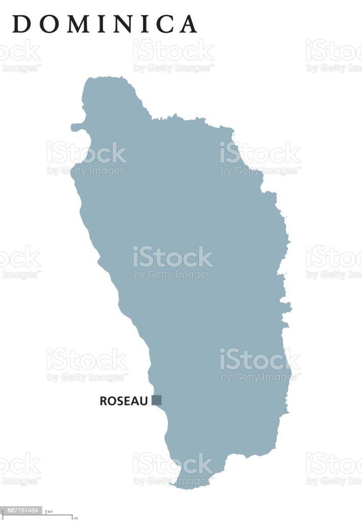 Dominica political map vector art illustration