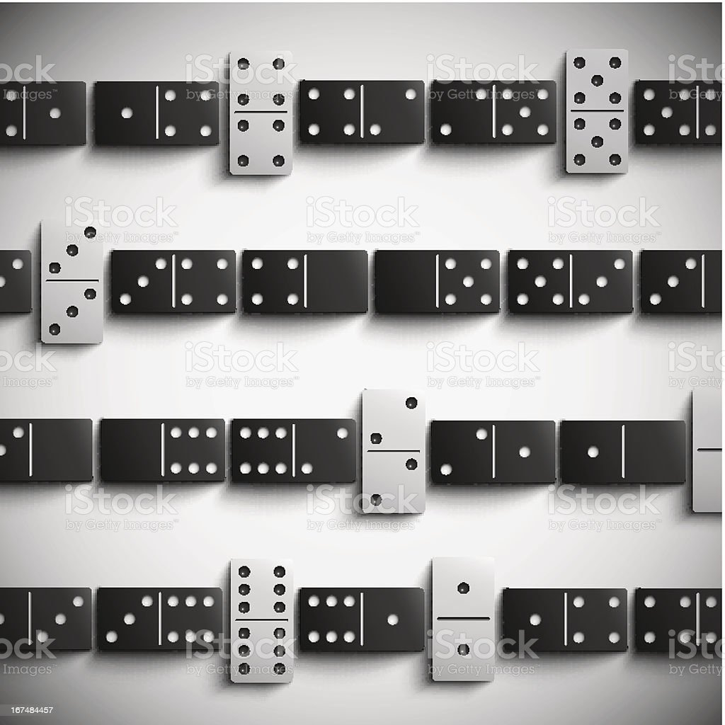 Domino background royalty-free stock vector art