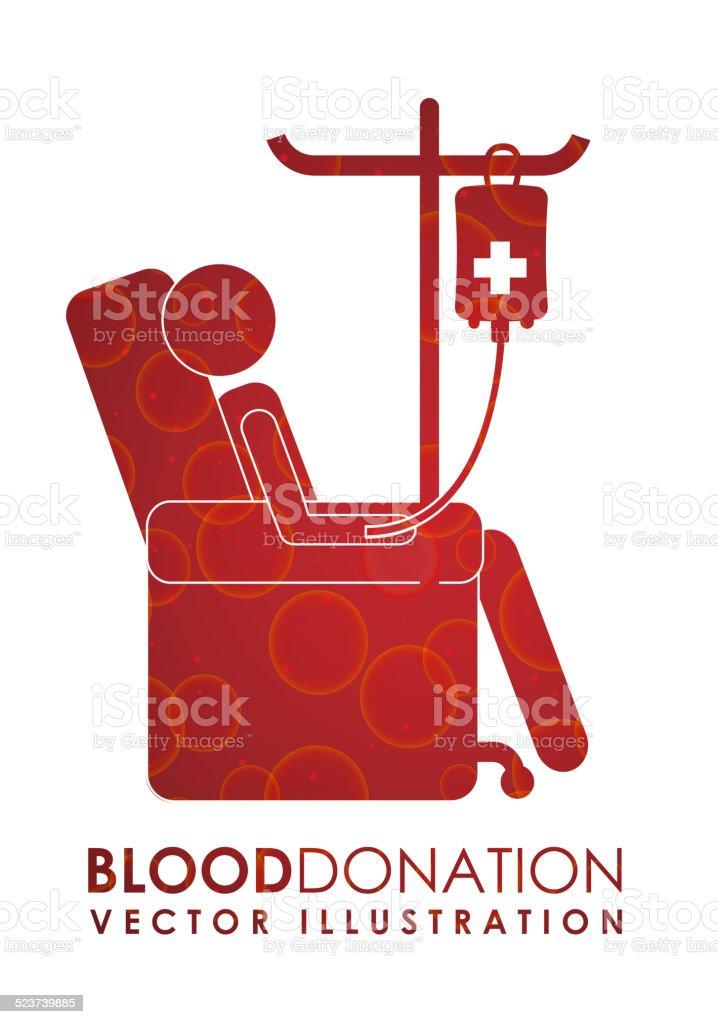 donate blood design vector art illustration