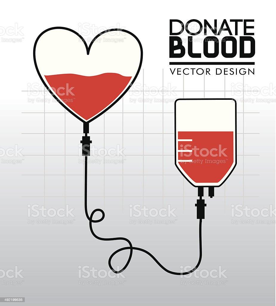 donate blood vector art illustration