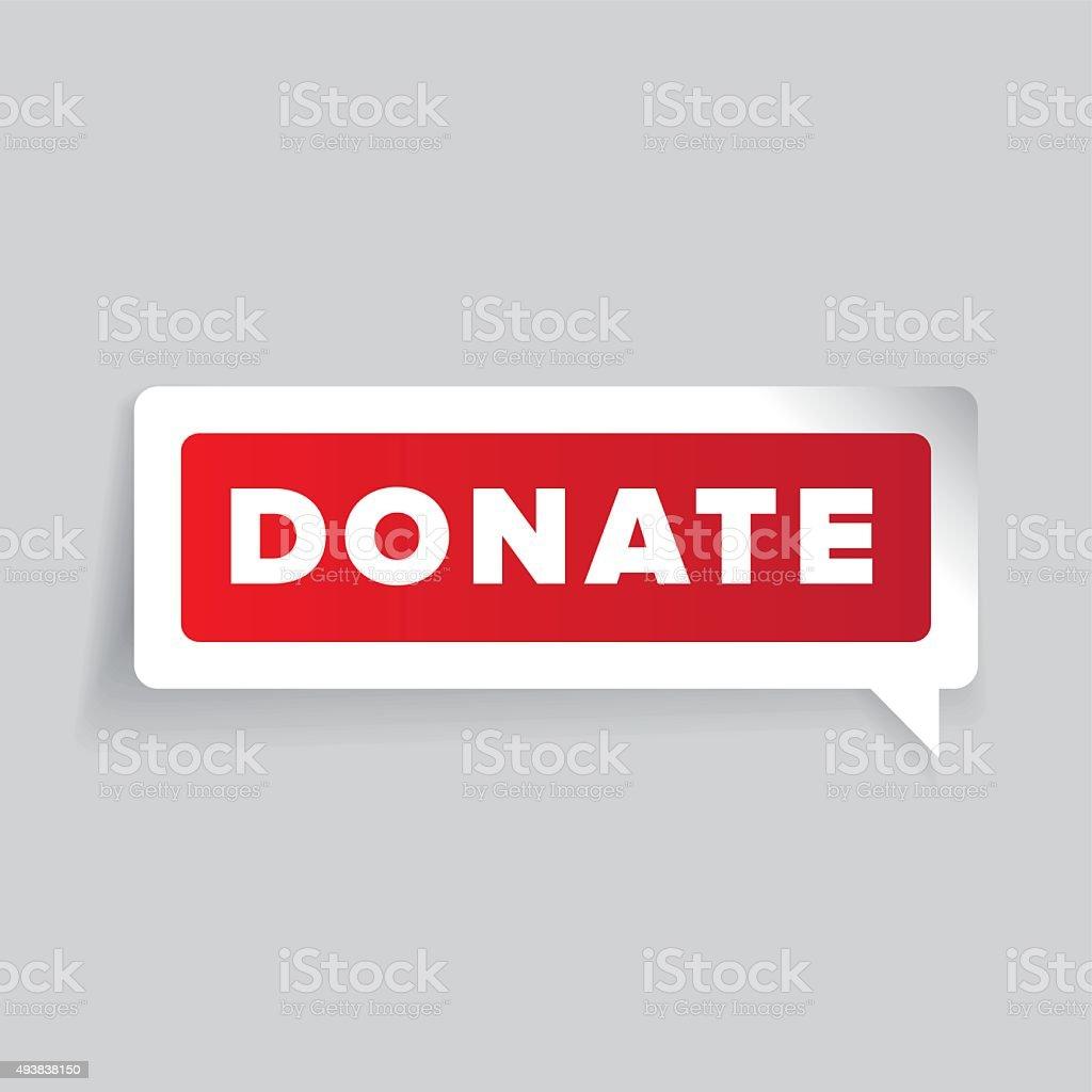 Donate button label vector vector art illustration