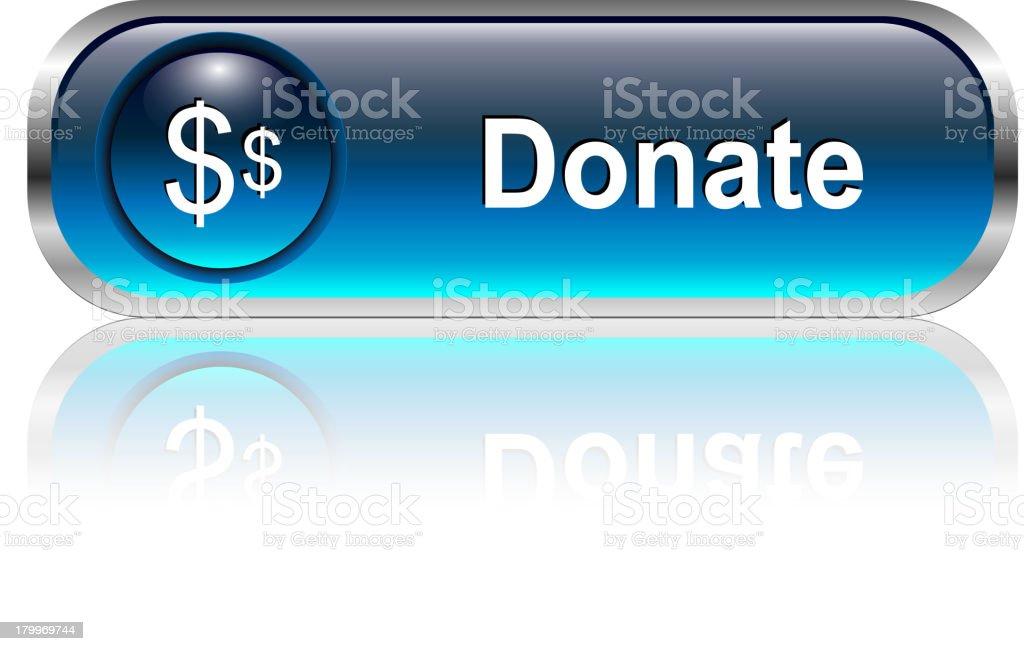 Donate Button royalty-free stock vector art