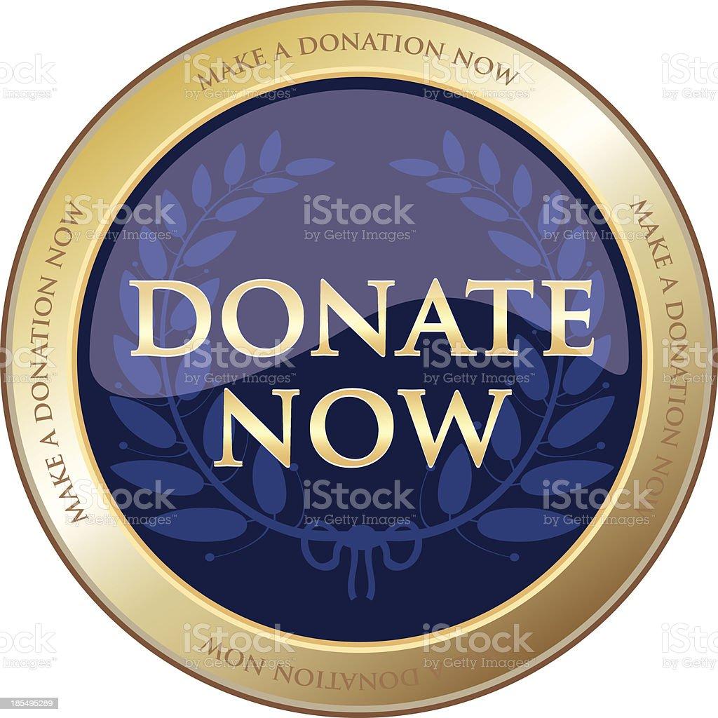 Donate Now Gold Award royalty-free stock vector art