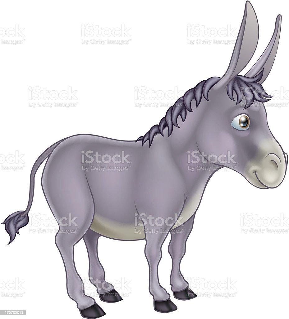 Donkey Cartoon royalty-free stock vector art