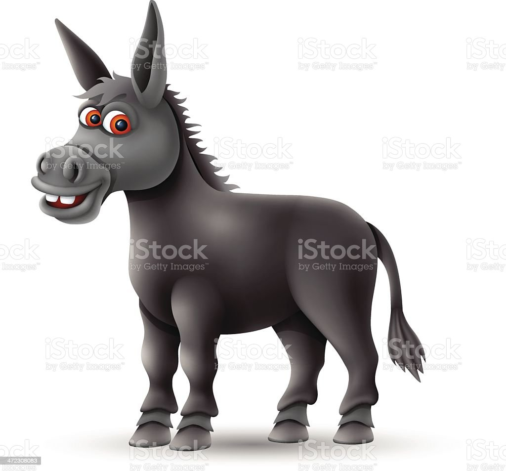 Donkey Character royalty-free stock vector art