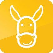 Donkey icon. Farm animal vector illustration