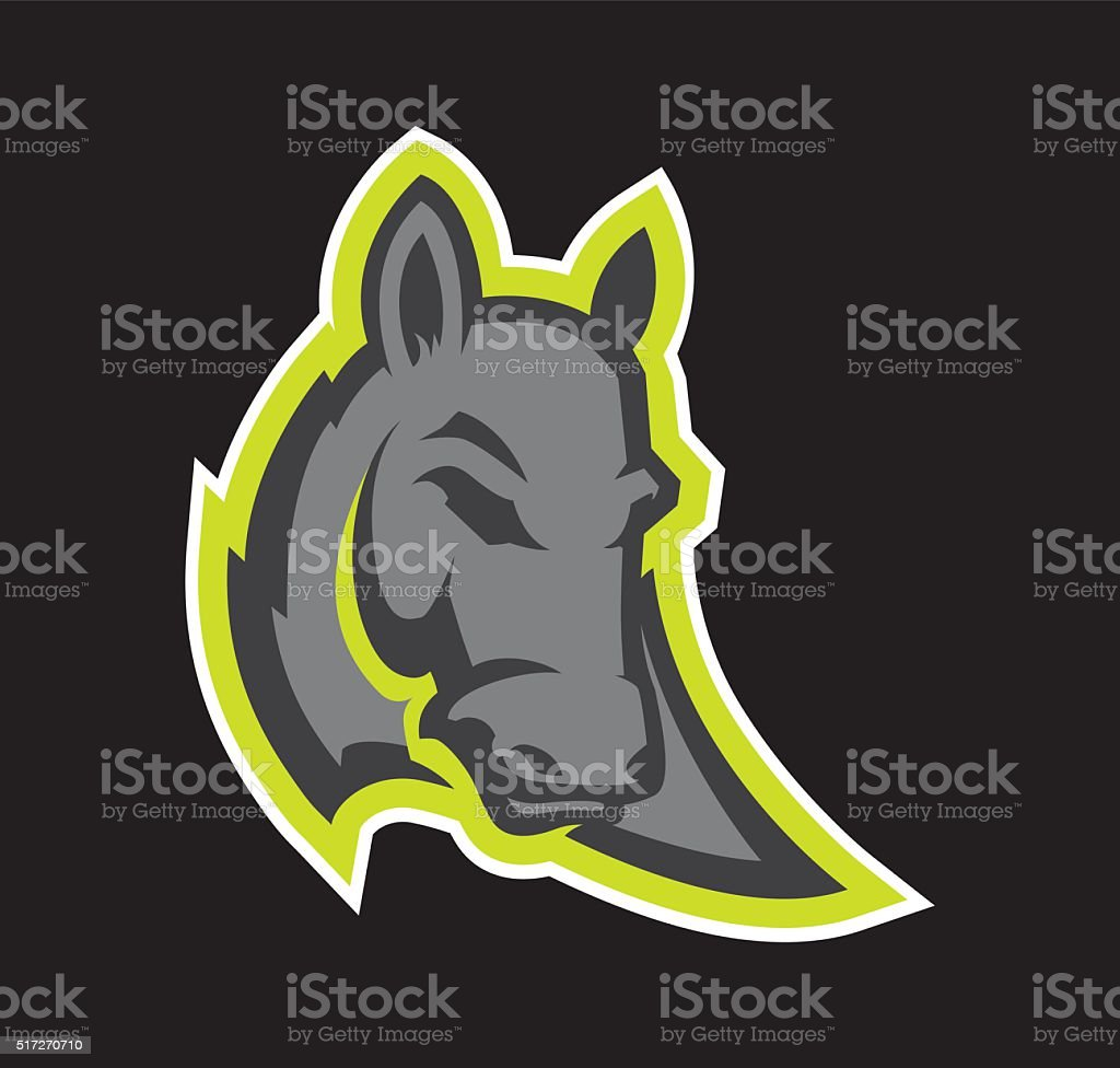 Donkey Mascot vector art illustration