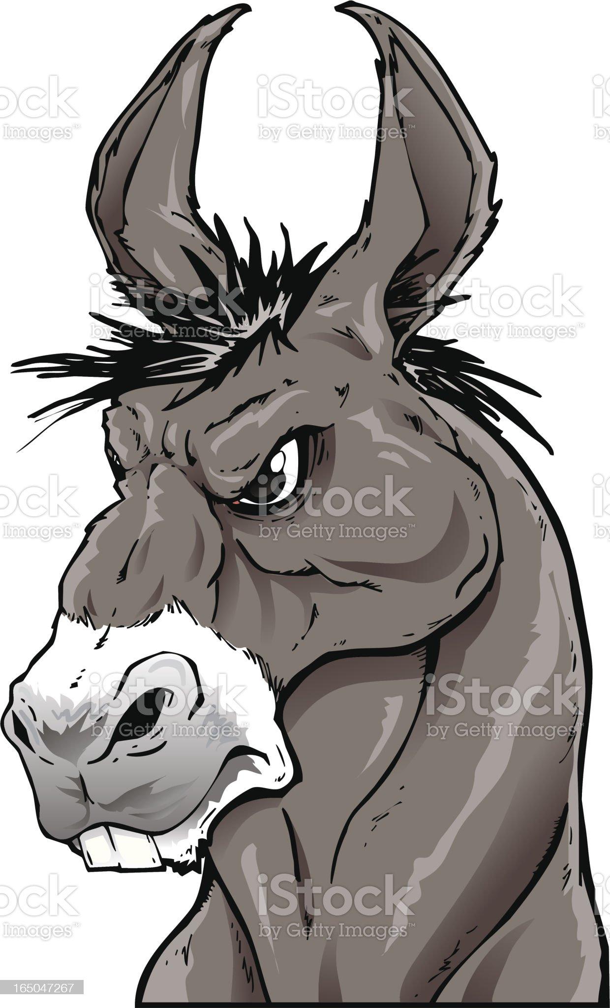 Donkey royalty-free stock vector art