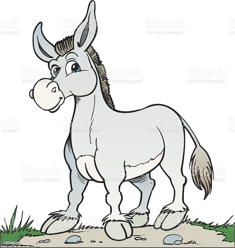 Donkey vector art illustration