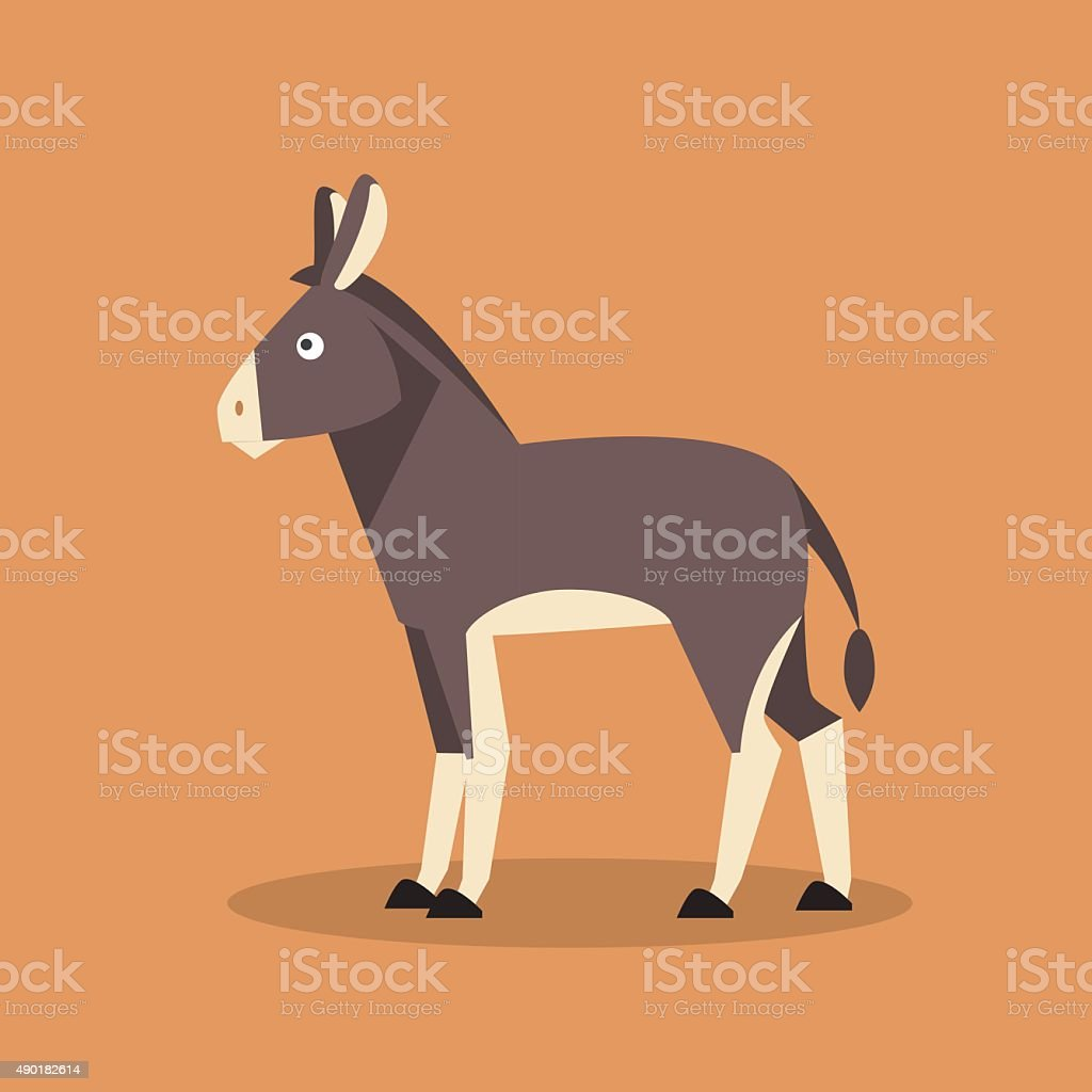 Donkey. Vector Illustration vector art illustration