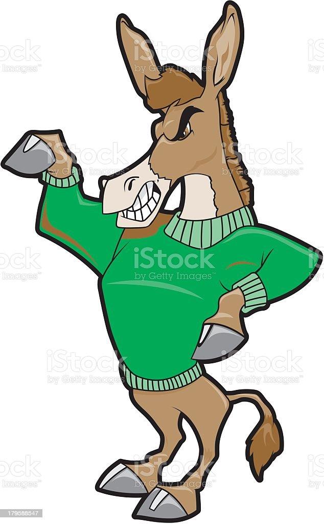 Donkey Wearing Green Sweater royalty-free stock vector art