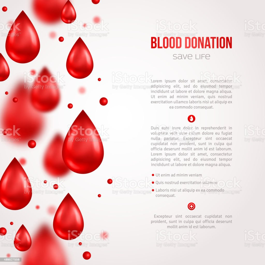 Donor Poster or Flyer. Blood Donation Lifesaving and Hospital Assistance. vector art illustration