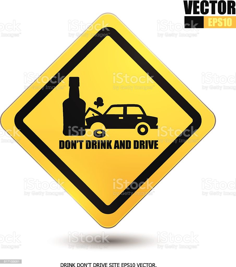 Don't drink and drive royalty-free stock vector art