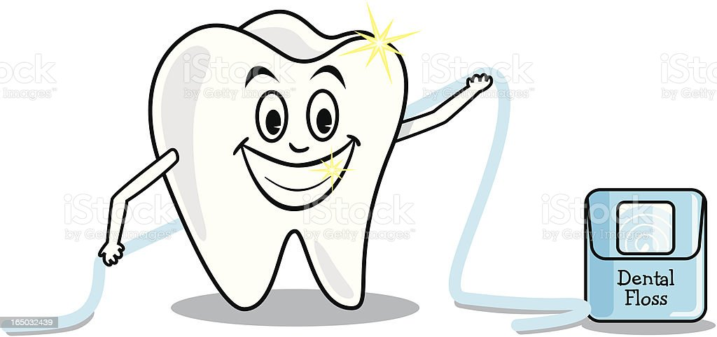 Don't Forget To Floss! (vector) royalty-free stock vector art