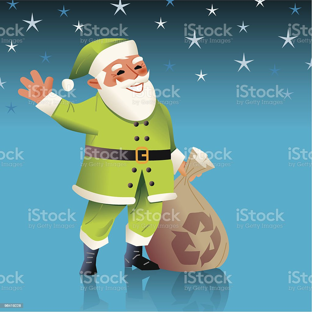 Don't forget to recycle this christmas! royalty-free stock vector art