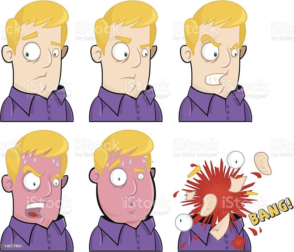 Don't make me angry vector art illustration
