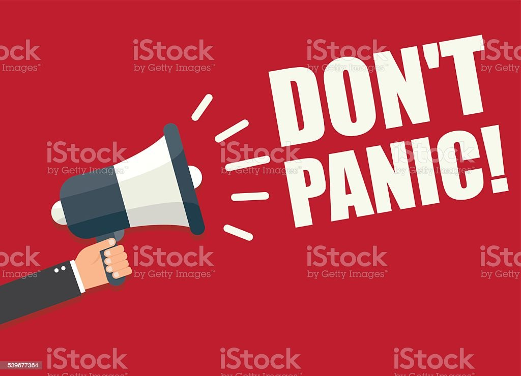 Don't Panic vector art illustration