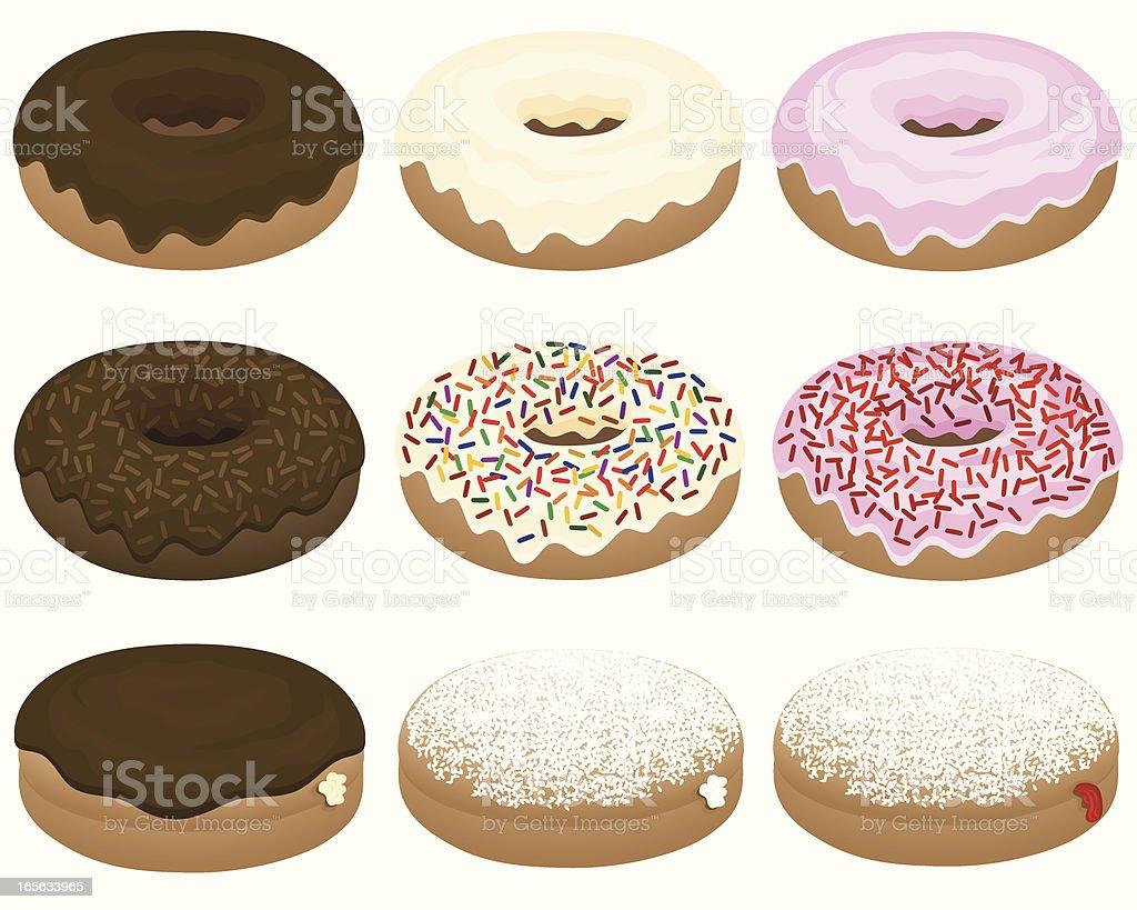 Donut Assortment vector art illustration
