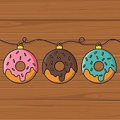 Donut decoration for Christmas tree.