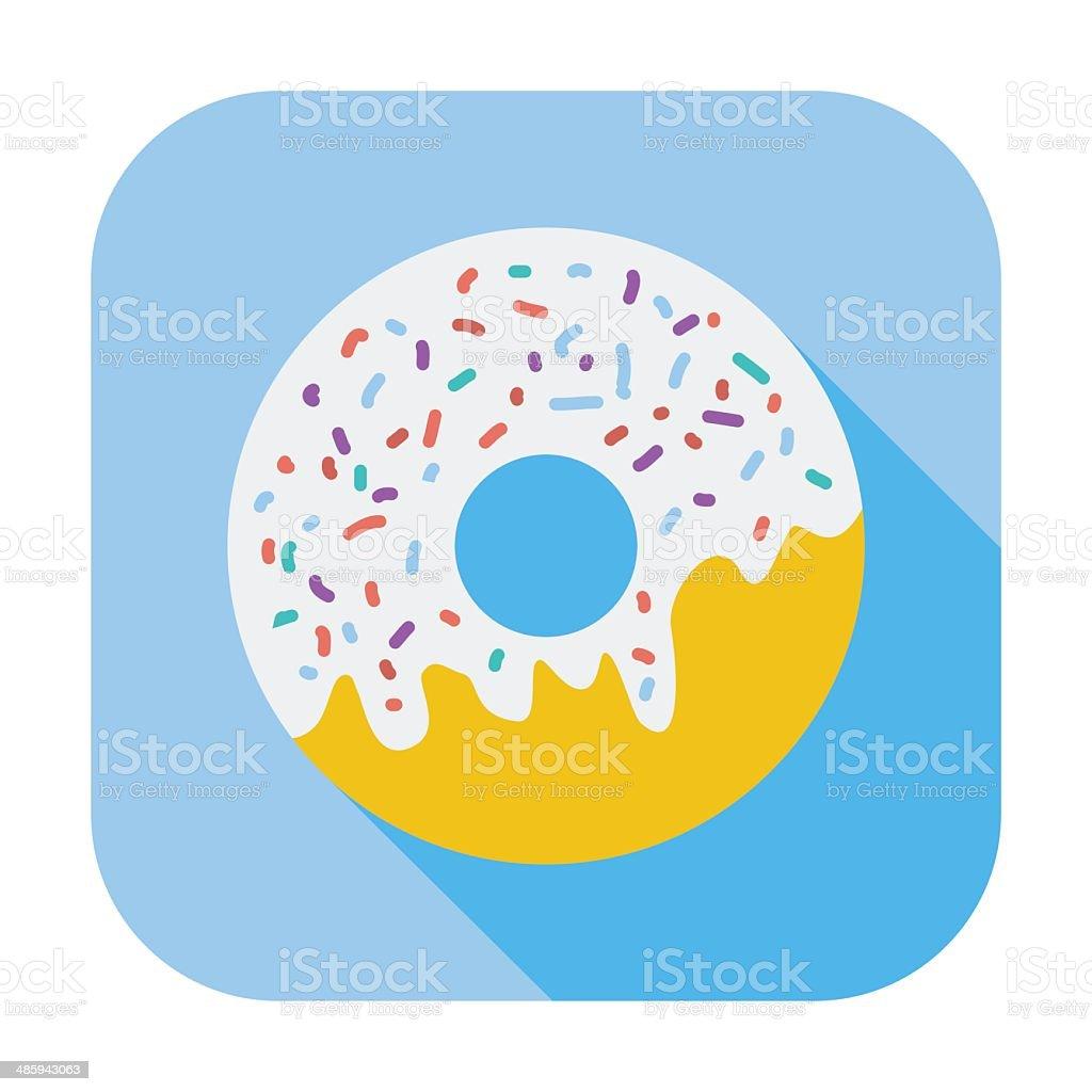 Donut flat icon vector art illustration
