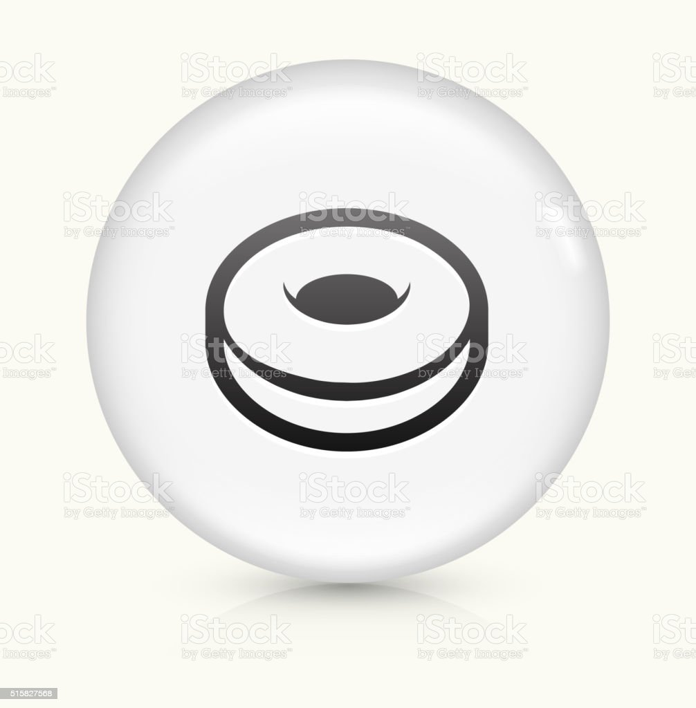 Donut icon on white round vector button vector art illustration